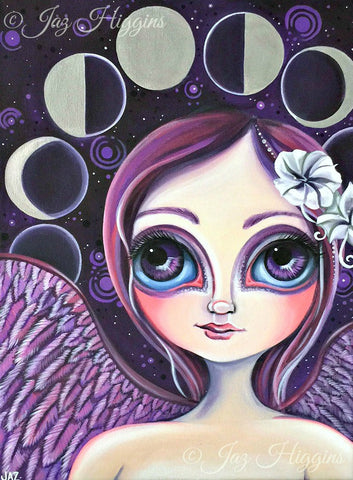 """Moon Phase Angel"" Art Print"