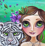 """Sage's White Tiger"" Art Print"