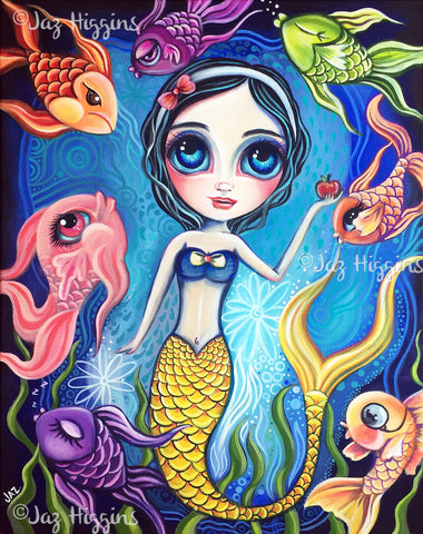 """Snow White and the Seven Fish"" Original Painting"