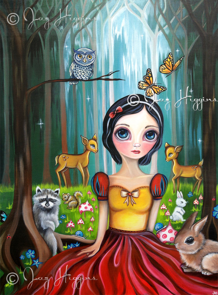 """Snow White in the Enchanted Forest"" Art Print"