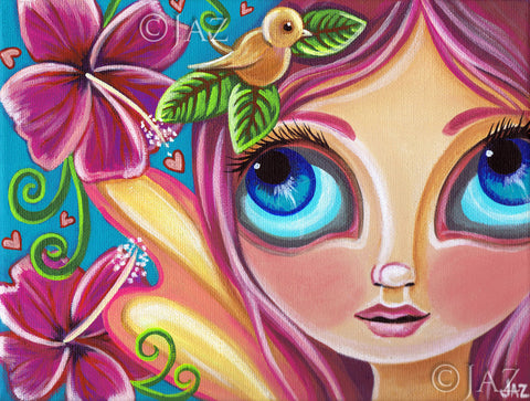 """Summer Bliss Fairy"" Art Print"