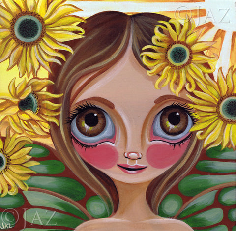 """Sunflower Fairy"" Art Print"