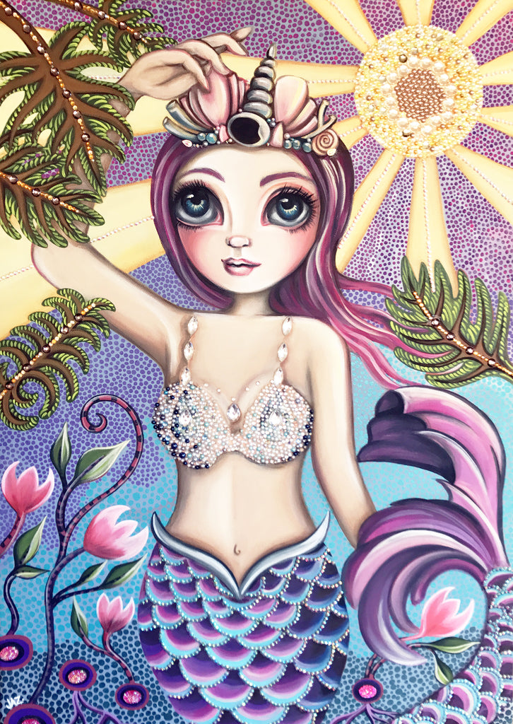 """Sunkissed Mermaid"" Original Painting"