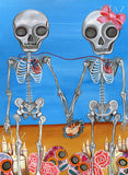 """The Two Skeletons"" Art Print"