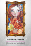 """Tropical Mermaid"" Art Print"