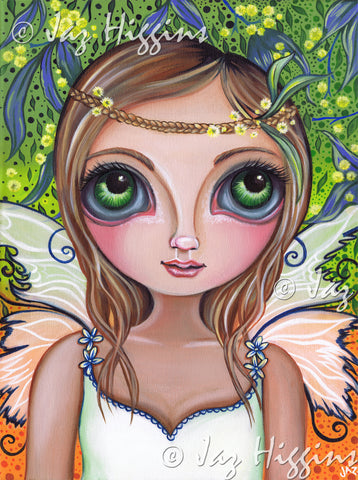 """Wattle Fairy"" Art Print"