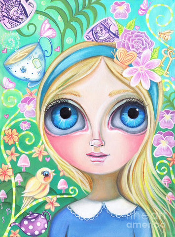 Alice In Pastel Land - Art Print