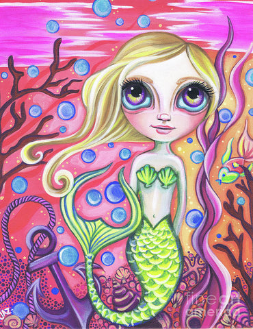 Coral Reef Mermaid - Art Print