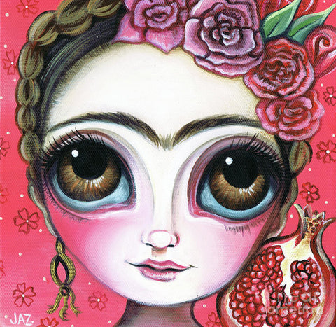 Frida And The Pomegranate - Art Print