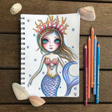 "Original Drawing ""Mermaid Thoughts"""