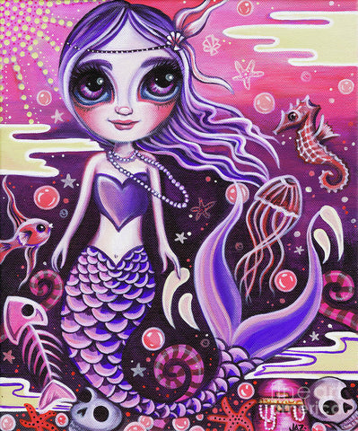 Mermaid At Dusk - Art Print