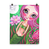 """Cancer (Zodiac Mermaid)"" Art Print"