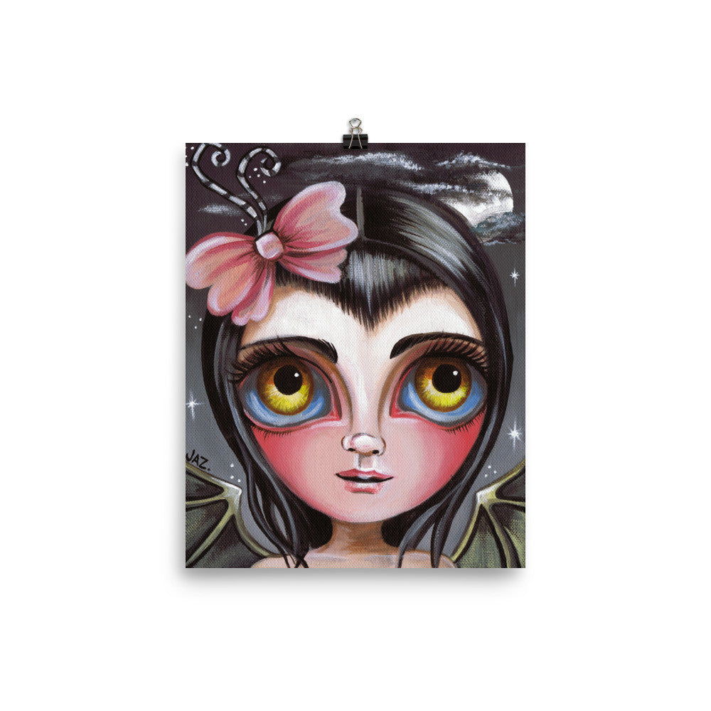 """Cloudy Night Fairy"" Art Print"