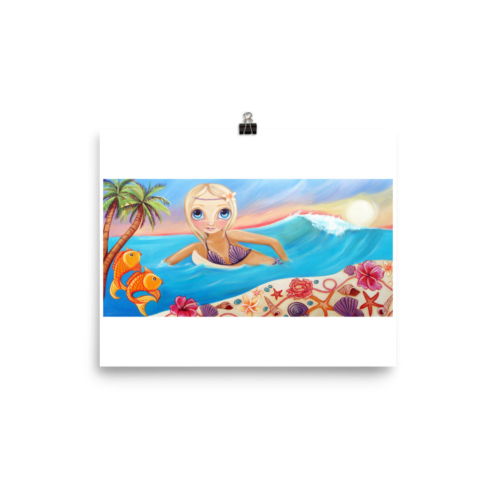 """Sunset Surfer"" Art Print"