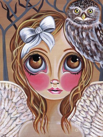 Owl Angel - Art Print