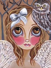 """Owl Angel"" Art Print"