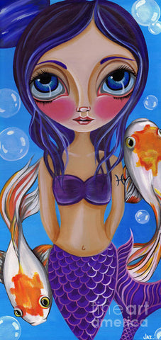 Pisces - Zodiac Mermaid - Art Print