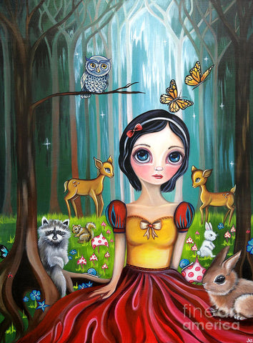 Snow White In The Enchanted Forest - Art Print