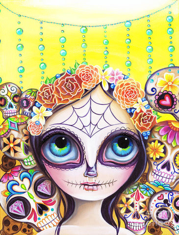 Sugar Skull Princess - Art Print