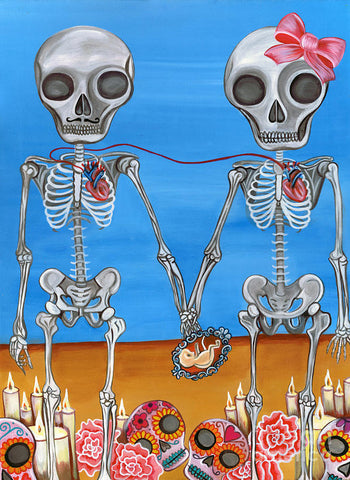 The Two Skeletons - Art Print