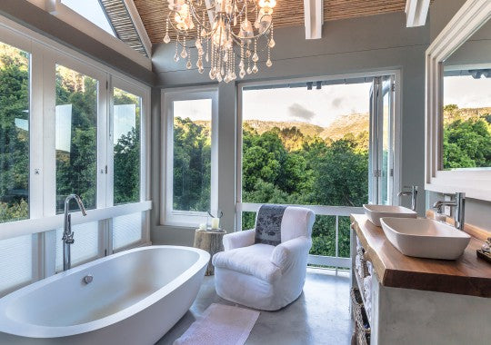 Villa Maison Noir, Capetown . One of the beautiful bathrooms.