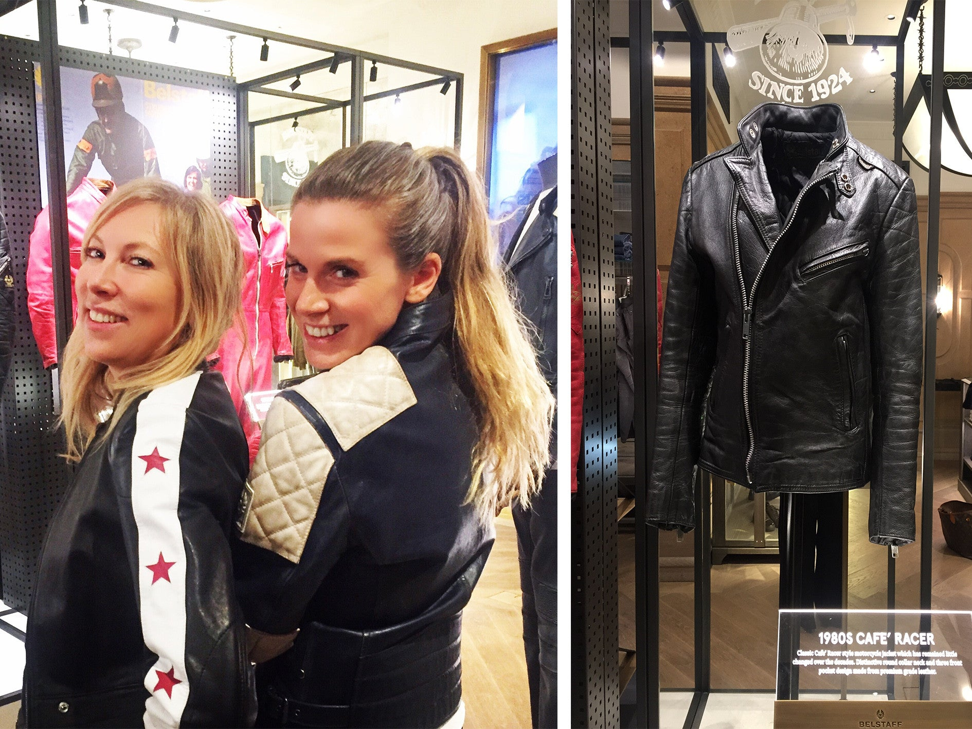 Cristina Aldrin and Natalia Cassell, Belstaff Archive London