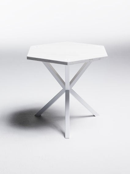 NEB HEXAGONAL SIDE TABLE IN WHITE , table - Per Soderberg | No Early Birds, alimitlessworld  - 1