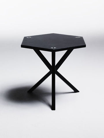 NEB HEXAGONAL SIDE TABLE IN BLACK , table - Per Soderberg | No Early Birds, alimitlessworld