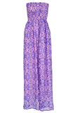 Maxi dress in purple sea shimmering in SILK , Dress - BEACH CANDY, alimitlessworld - 2