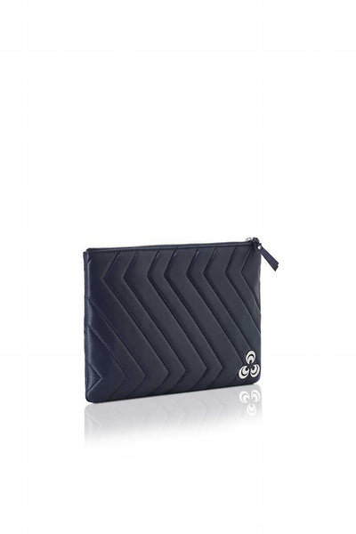 Dina at Mercer pouchette bag in Deep navy blue , Pouchette bag - Misela, alimitlessworld