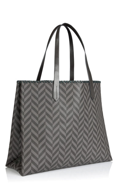 Tote bag Edna at Anatolia in Silver Grey with green lining , Tote bag - Misela, alimitlessworld