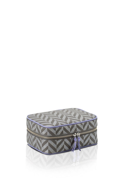 Elena at Anatolia Canvas Cosmetic bag in Silver Grey/ Lavender , cosmetic bag - Misela, alimitlessworld
