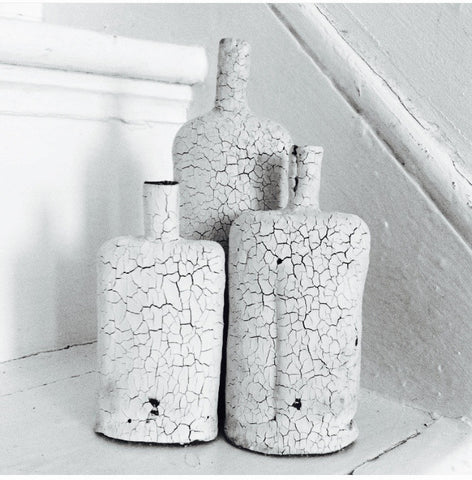 Handmade, one off and bespoke ceramic ' small cracked bottle ' , ceramic decorative bottles - Raffaella Molin, alimitlessworld  - 1