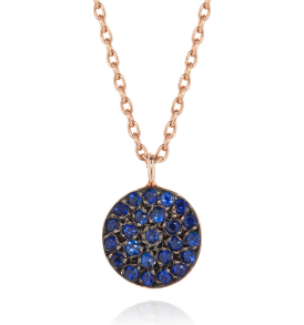 Sapphire Disc Necklace , Necklace - BYJADA, alimitlessworld
