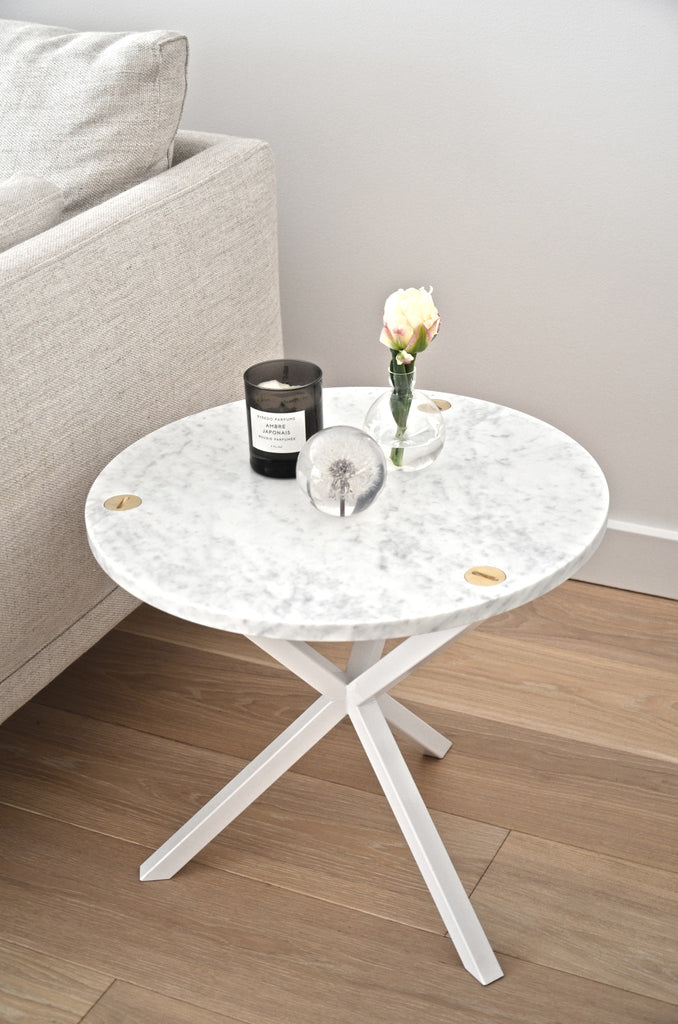 6f7368c065 NEB ROUND SIDE TABLE with marble top , table - Per Soderberg | No Early  Birds
