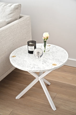 NEB ROUND SIDE TABLE with marble top , table - Per Soderberg | No Early Birds, alimitlessworld