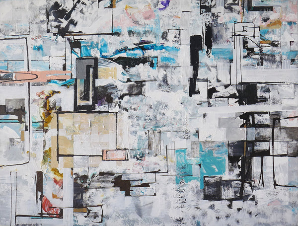 Anna Sudbina: State of Flux Number 1 , painting - Anna Sudbina, alimitlessworld