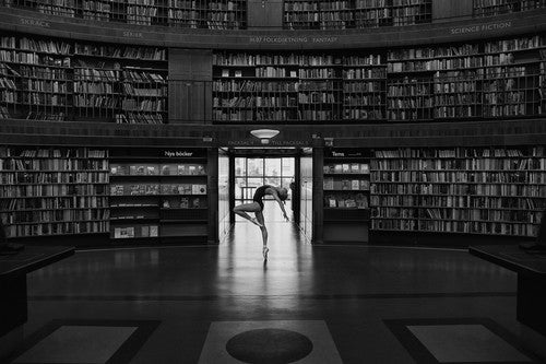 Max Mode'n: Ballerina at Stockholm City Library Nr.2 , Photography - Max Moden, alimitlessworld