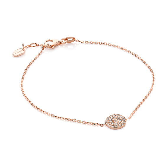 Rose Gold Diamond Disc Bracelet , Bracelet - BYJADA, alimitlessworld