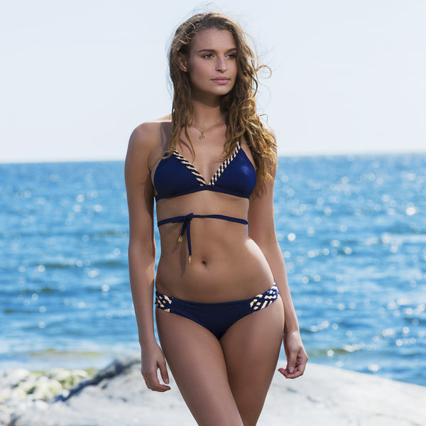 Braided Cascade in Midnight Blue , Bikini - DEMADLY, alimitlessworld  - 1