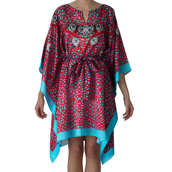 Sea Fan Short Kaftan , Kaftan - Sea Sage, alimitlessworld  - 1
