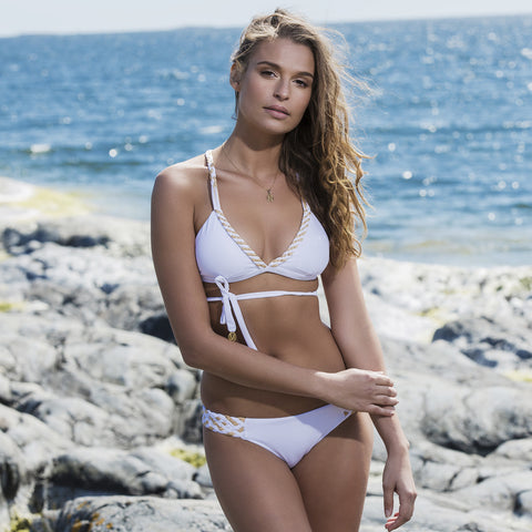 Braided Cascade Bikini in Bright White , Bikini - DEMADLY, alimitlessworld  - 1