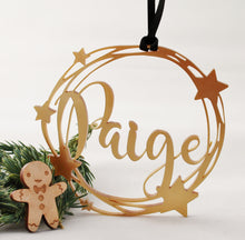 Gold Star Customised Name Bauble
