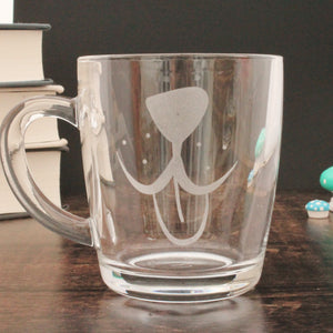 Dog face Glass Mug