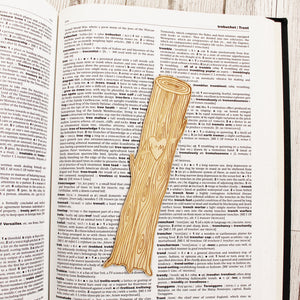 Tree Carving Bookmark