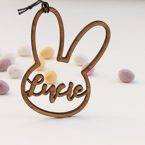 Personalised Rabbit Tag Easter Bunny