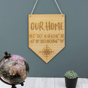 Custom Coordinate Banner Sign