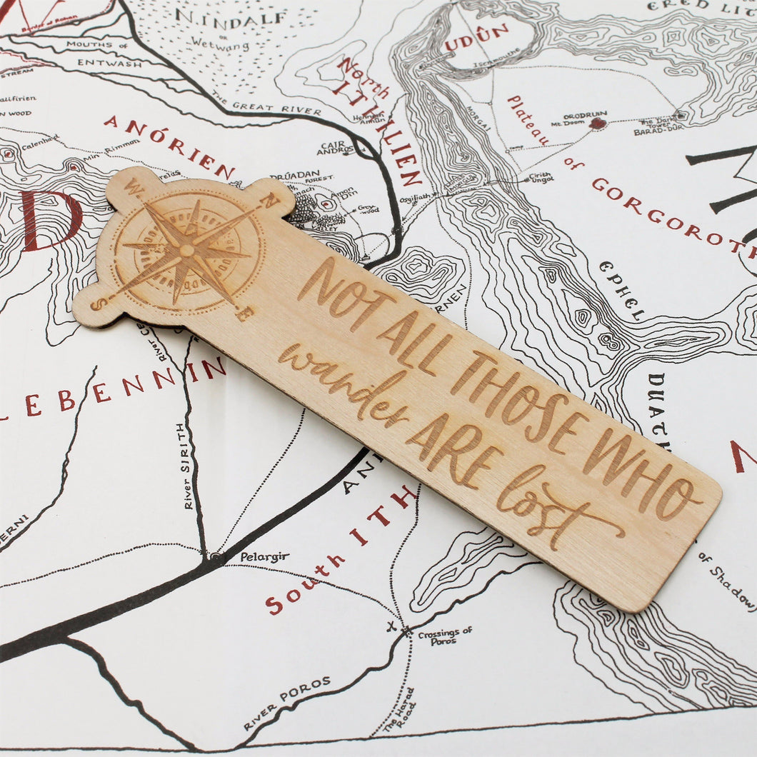 Not all Those who Wander are Lost Bookmark Quote