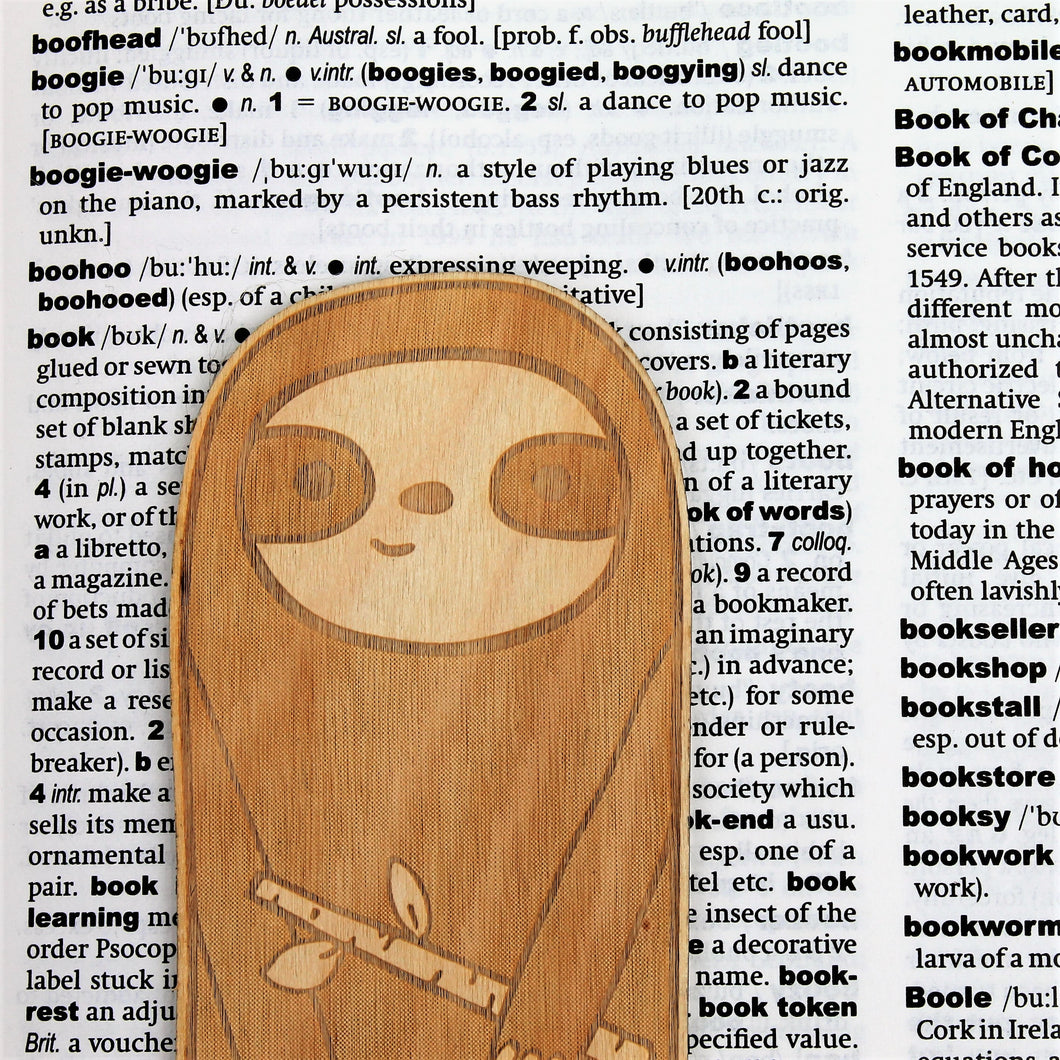 Wooden Sloth Bookmark