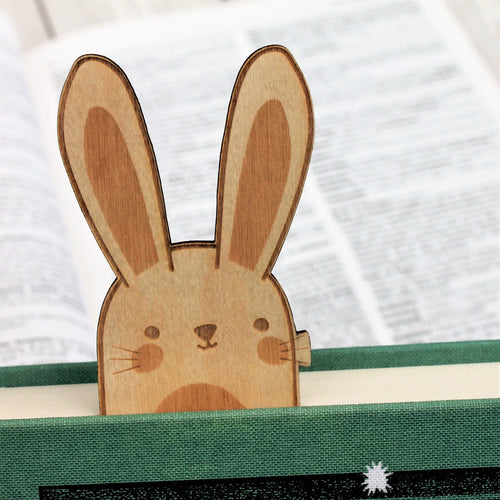 Wooden Bunny Rabbit Bookmark